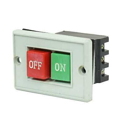 AC 380V 5A ON OFF 6 Screw Terminals Pushbutton Switch for Machine