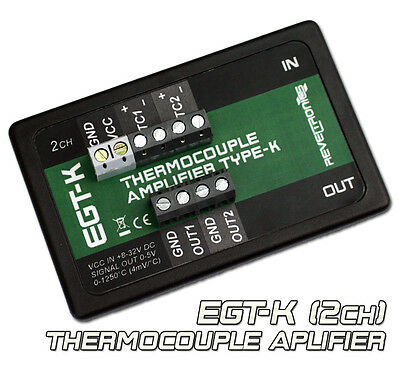 EGT-K Thermocouple Amplifier Conditioner K-Type 0-1250°C 0-5V 2CH AD8495 AD597