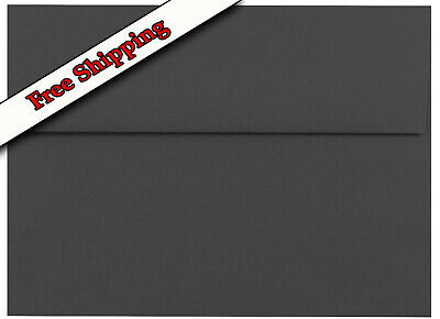 Jet Black Envelopes for Invitations Announcements Response Cards Shower A2 A6 A7