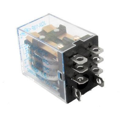 DPDT Type AC240V DC28V 10A Contact DC12V Coil Power Relay JQX-13F2Z