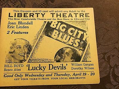 Vintage Theater Coupon for the Liberty Theater
