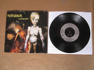 "NIRVANA Lithium / Been A Son 7"" RARE PICTURE SLEEVE DGCS9 SUB POP"