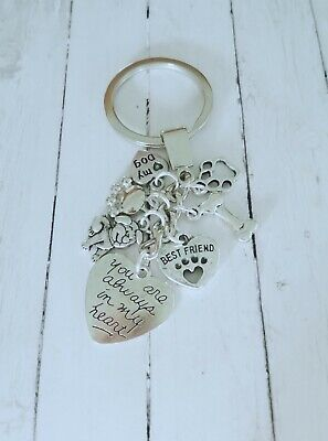 I love my Dog, best friend, memorial keyring