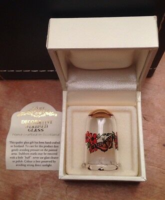 Decorative Stained Glass Thimble Hand Crafted In Scotland