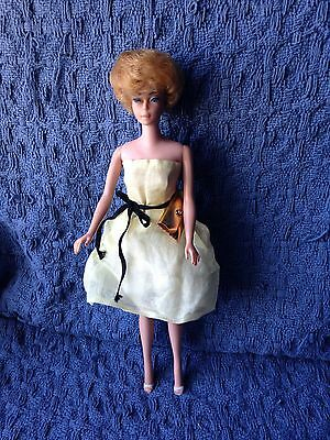Vintage 1962 Barbie  with Bubble hair cut and labeled & handmade outfits
