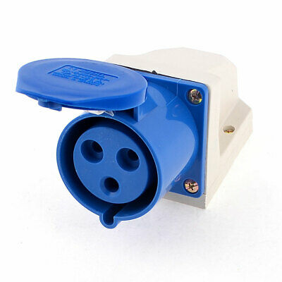 ZZ-123 AC220-250V 32A 2P+E 3 Pin Plug Wirable Wall Mounting Industrial Socket