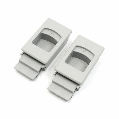 2 Pcs Meter Box Inside Pull Button Gray Plastic Latch Fittings