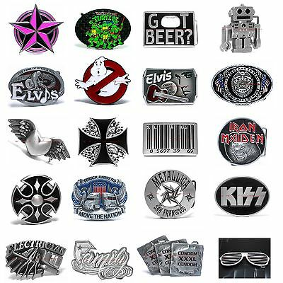 Hbum0345 Many Casual Styles Cartoon / Music / Symbols Alloy Metal Belt Buckle