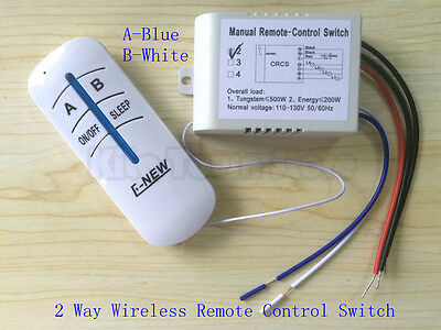 US Standard 110V Wireless Remote Control 2/3 way lamp switch Anti-interference