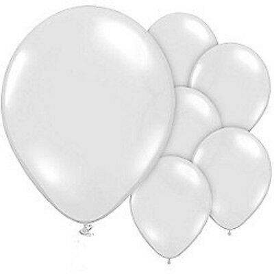 10 x White Light-Up LED Balloons 15 Hours Party Birthday Kids