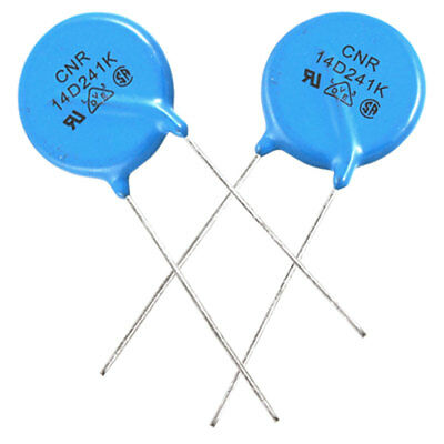 10 x Epoxy Disc Varistors Voltage Dependent Resistors 14D241K