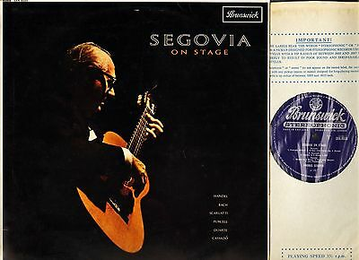 SXA 4550 GROOVED ANDRES SEGOVIA segovia on stage guitar recital LP PS EX/EX