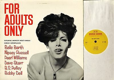 FOR ADULTS ONLY belle barth/nipsey russell/pearl williams/bs pulley LP PS EX/EX-