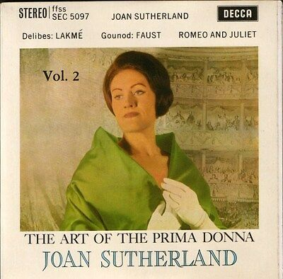 "JOAN SUTHERLAND the art of the prima donna vol 2 rare stereo SEC5097 7"" PS EX/EX"