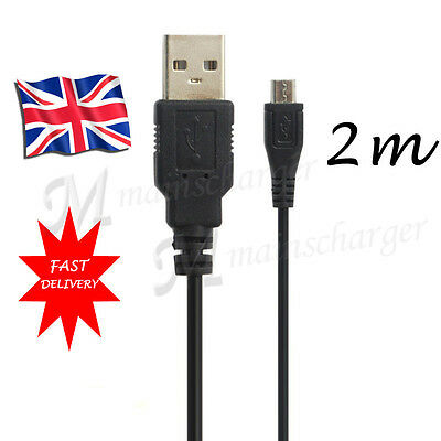 """2m / 6.5ft Long MICRO USB Sync Charger Cable For Tesco HUDL 2 (8.3"""" inch) Tablet"""