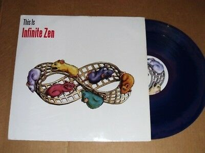 VARIOUS this is infinite zen LP PS EX/EX uk blue vinyl