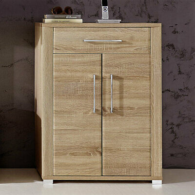 schuhschrank flur kommode garderobe eiche san remo highboard dielenschrank malea eur 194 99. Black Bedroom Furniture Sets. Home Design Ideas