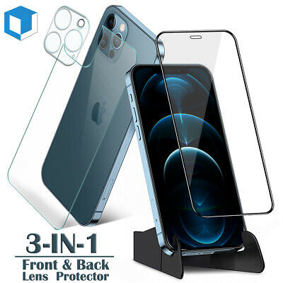 iPhone XS MAX XR X 8 7 /Plus Clear Soft TPU Case+Tempered Glass Screen Protector