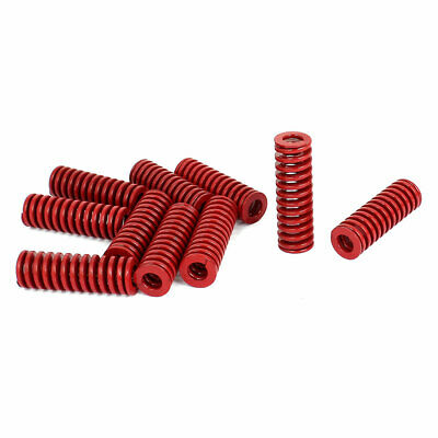 16mm OD 50mm Long Medium Load Stamping Compression Mold Die Spring Red 10pcs