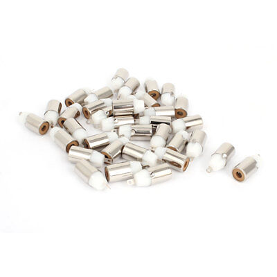 35 x PCB Mount AV Female Jack RCA Connector White Silver Tone Replacement