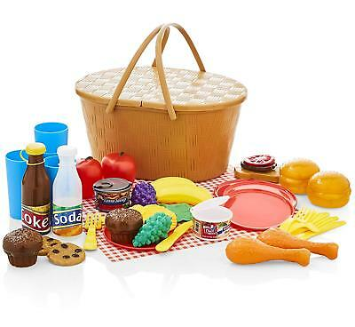 KiddyPlay Deluxe Picnic Basket Playset Childrens/Kids Toy
