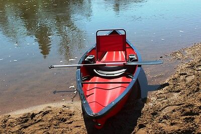 Canoes, Canadian Canoe, Plastic Canoe, old Fashion Canoe BN 1 Person Canoe RED