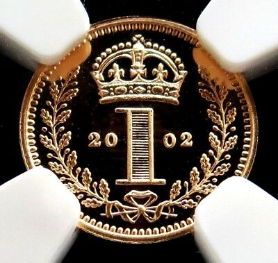 2002 Gold Great Britain Pence Maundy Coin Ngc Proof 69 Ultra Cameo Mintage 2,002