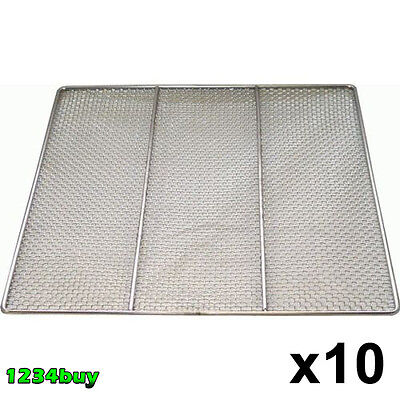 "ACE 10 PC S/S Donut Frying Screen 23""x23"" Screens Wire# 16 GA DN-FS23N (9 Mesh)"