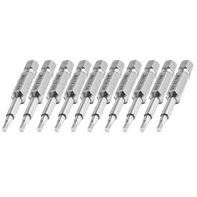"10 Pcs Magnetic 1/4"" x 50mm Hex H2.0 Point Power Driver Screwdriver Bits"