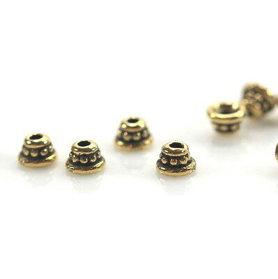 Beaded Bead Caps, 4mm,TierraCast, Gold Plated Pewter, 20 Pieces, 9926