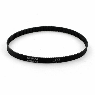 95MXL025 119-Tooth 6.4mm Width Black Industrial Synchronous Timing Belt 9.5""