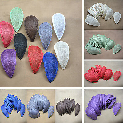 "6.7"" X 3.3"" Teardrop Sinamay Hat Fascinator Base Millinery Making Craft B066"