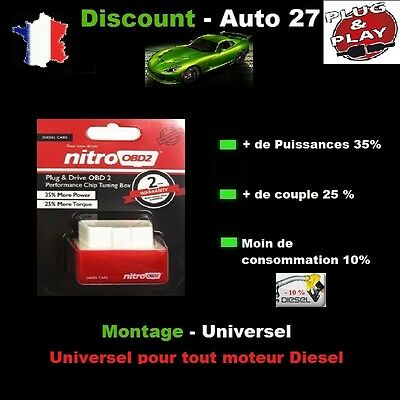 Boitier NITRO OBD OBD2 Puce Chips Tuning PEUGEOT 307 2.0 Hdi 110 cv