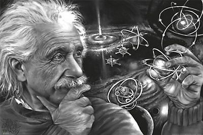 ALBERT EINSTEIN - QUASAR ART POSTER - 24x36 JAMES DANGER HARVEY 3255