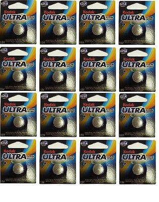 16 PACK of Kodak Ultra KA625 (LR9) 1.5V Alkaline Battery Exp 2017
