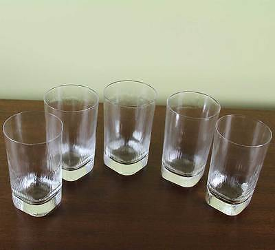 Wonderful  Orrefors Set for 5 Tumbler or Scotch-Whisky Glass