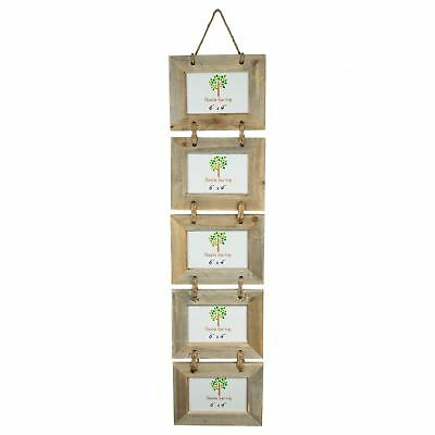 """Nicola Spring 5 Photo Driftwood Hanging Picture Frame - 6 x 4"""""""