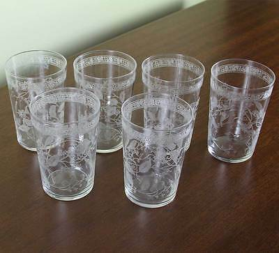 Set of 6 Charming Liquor Large Glass