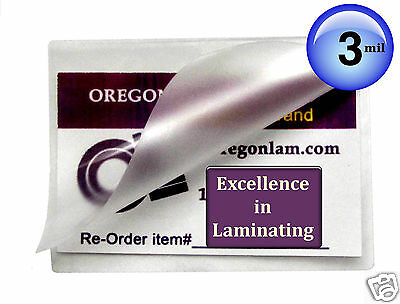 500 Hot 3 Mil 4x6 Photo 4-1/4 x 6-1/4 Laminating Pouches Clear