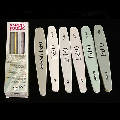 OPI professional Nail Files - Sample Pack 6 pack Assorted - New in Box
