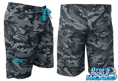 Pelagic 4Tek Grey Fish Camo II Boardshorts BRAND NEW at Otto's Tackle World