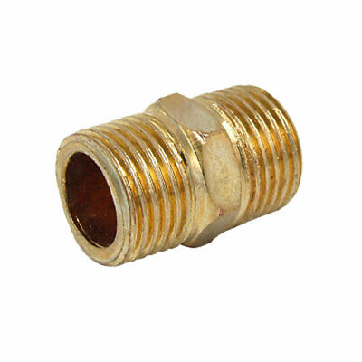 New 1/2 inch Brass Equal Fx F Hexagon Hexagonal Nipple