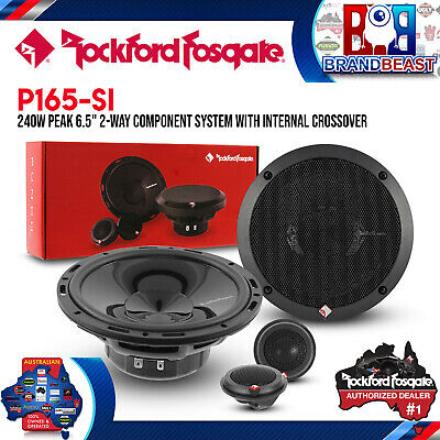 """New Rockford Fosgate P165-si Punch Series 6.5"""" Component Speaker System"""