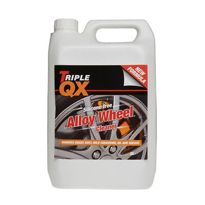 Triple QX Alloy Wheel Cleaner Rim Car Cleaning 5 Litre Brake Dust Road Grime 5L