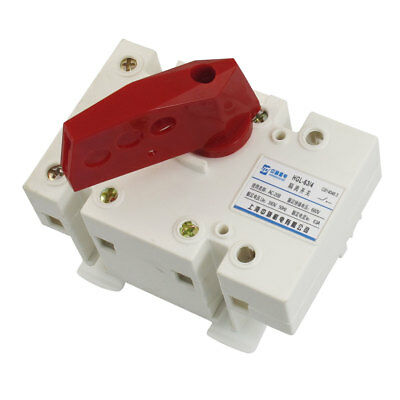 AC 380V 50Hz 63A 2P+E Standard 35mm Mounting Rail Isolating Switch
