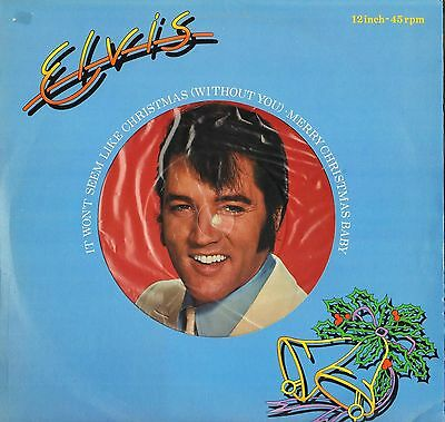 "ELVIS PRESLEY it won't seem like christmas without you PC 9464 uk 12"" PS VG/EX-"