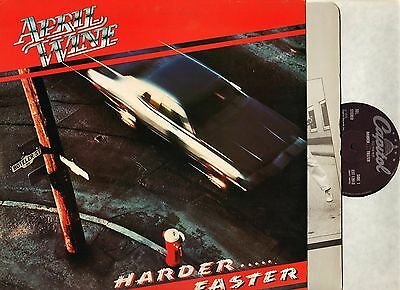 APRIL WINE harder faster E-ST 12013 1/1 1st press uk capitol LP PS EX/EX