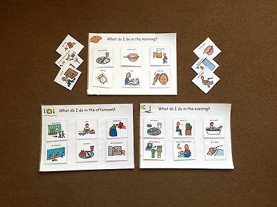 Pecs/Boardmaker Pre Time Telling Learning Set For Autism/Asd/Adhd/Sen