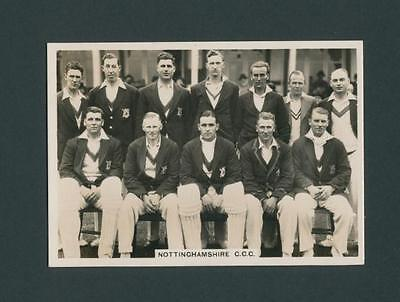 Nottinghamshire Cricket Team Original 1930S  Real Photo Ardath Cigarette Card