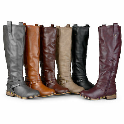 6908c17922e JOURNEE COLLECTION WOMENS Wide and Extra Wide Calf Riding Boots New ...